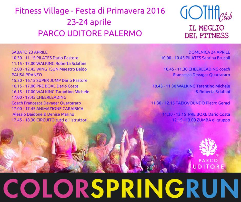 Fitness Village Festa di Primavera 201623-24 aprile PARCO UDITORE PALERMO